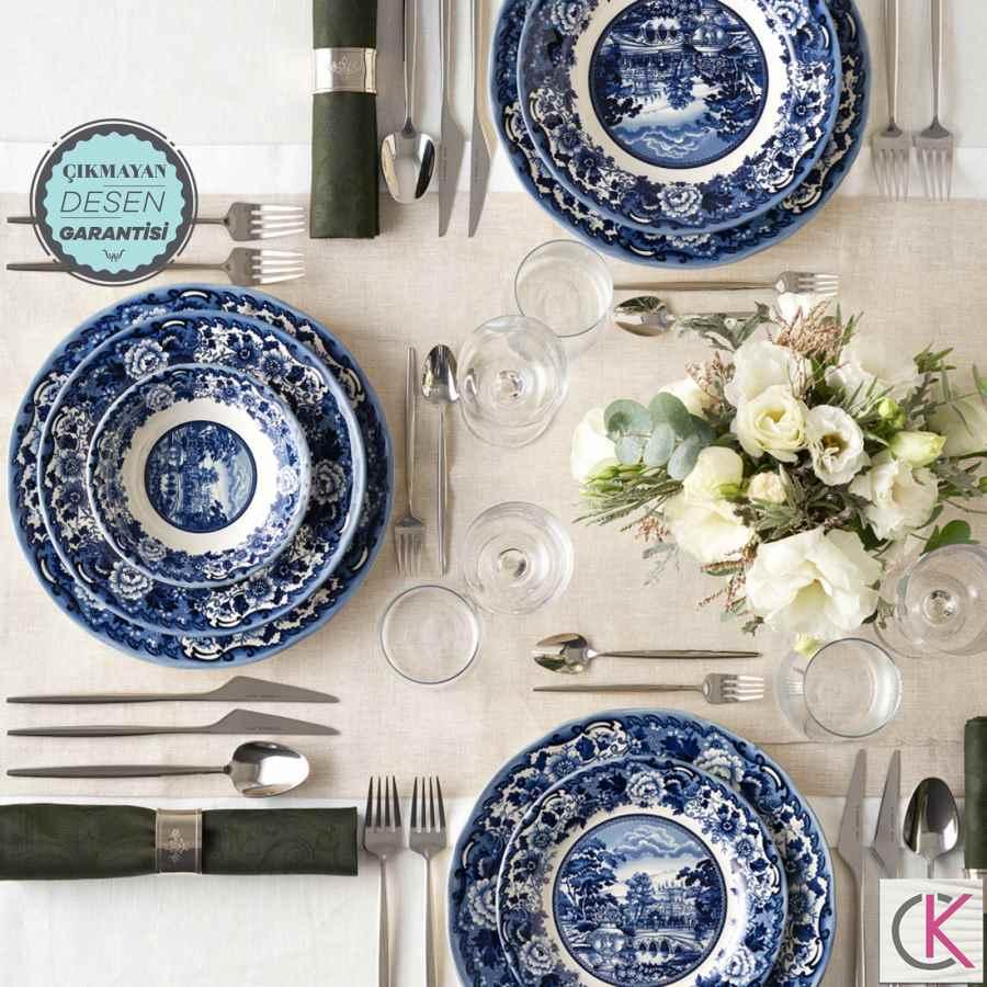 Karaca New Blue Odyssey 6 Kişilik 24 Parça Yemek Takımı