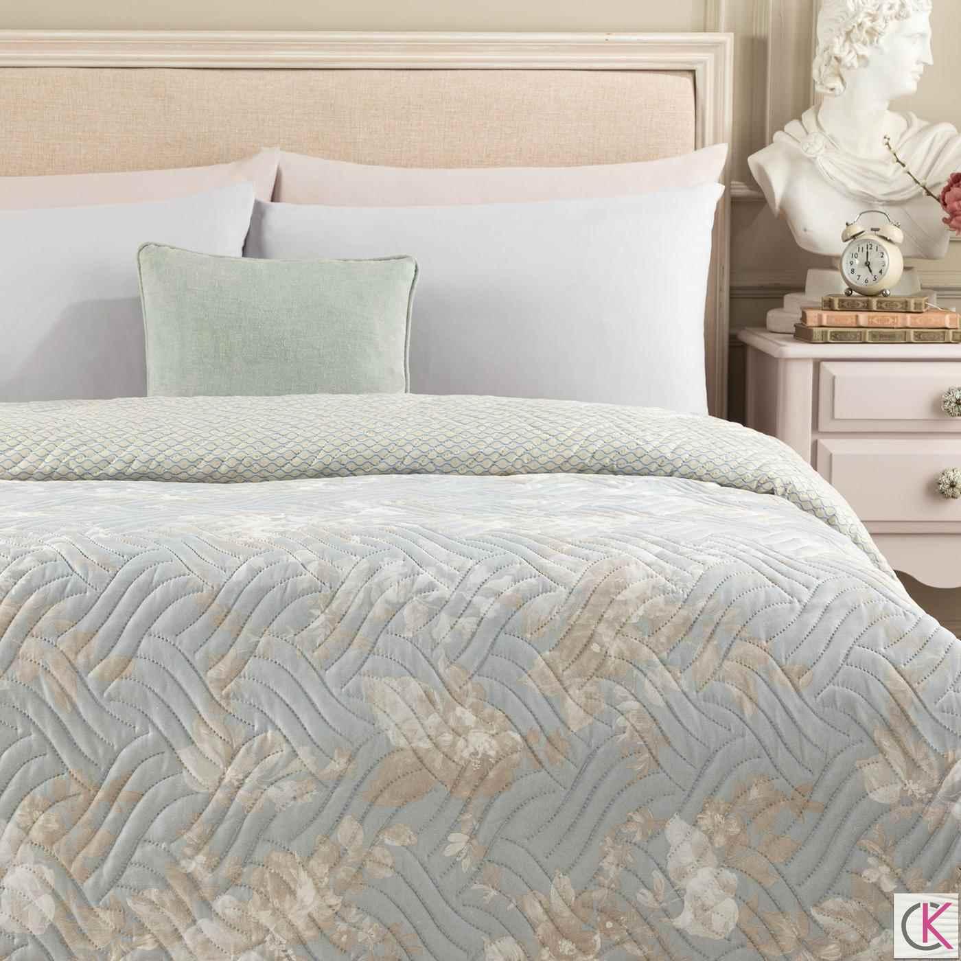 Curtice Tek Kişilik Çok Amaçlı Yatak Örtüsü - Mavi