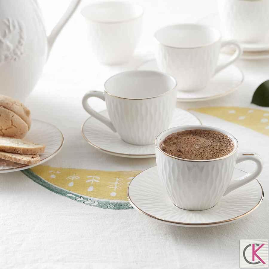 Karaca Ladin 6 Kişilik Kahve Fincan Takımı
