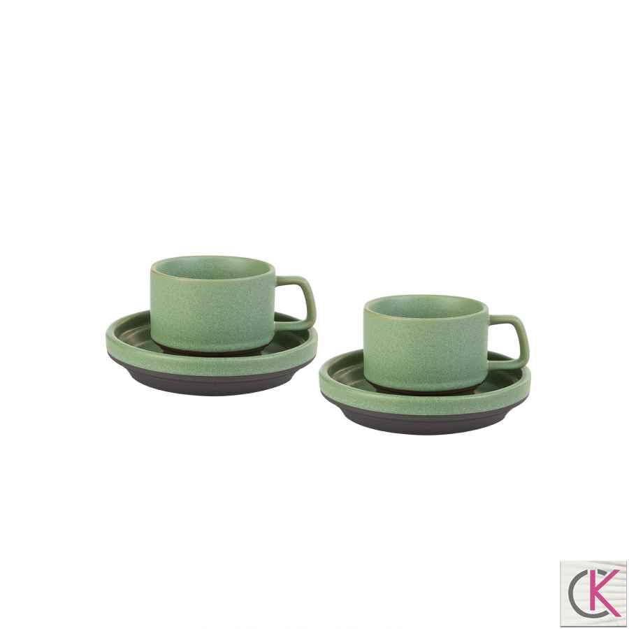 Karaca Stone Green 2 Kişilik Kahve Fincanı Takımı