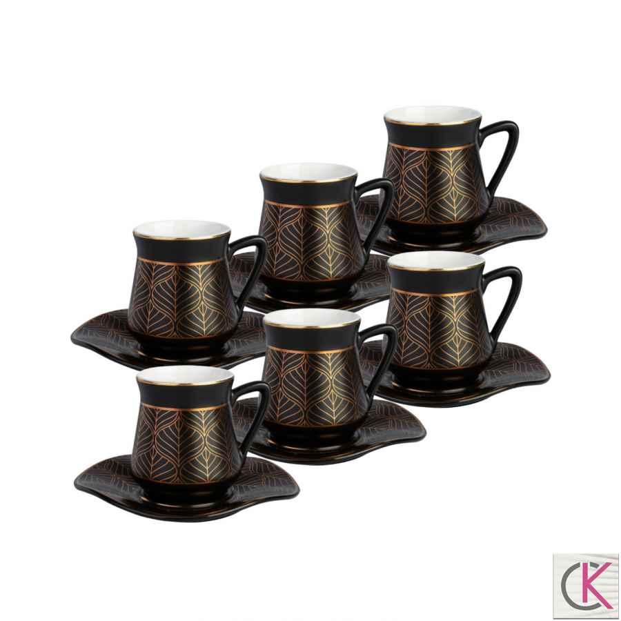 Emsan Karaköy 6 Kişilik Porselen Kahve Fincan Takımı