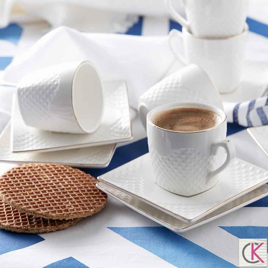Karaca Rut 6 Kişilik Kahve Fincanı Takımı