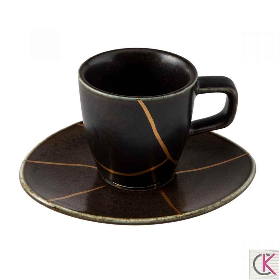 Jumbo Lidya Kintsugi Kahve Fincan Tabağı