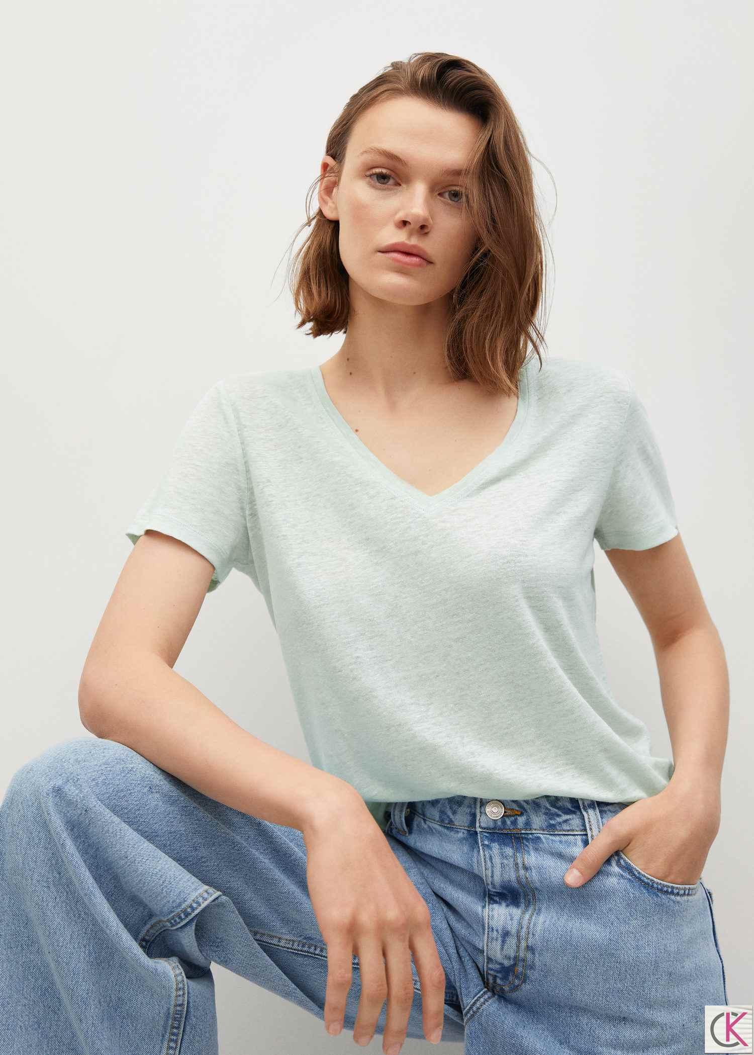 %100 keten tişört