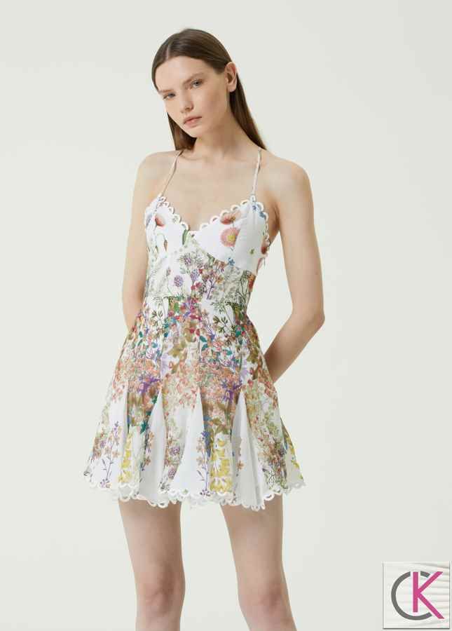 Marlane Çiçek Desenli Mini Elbise