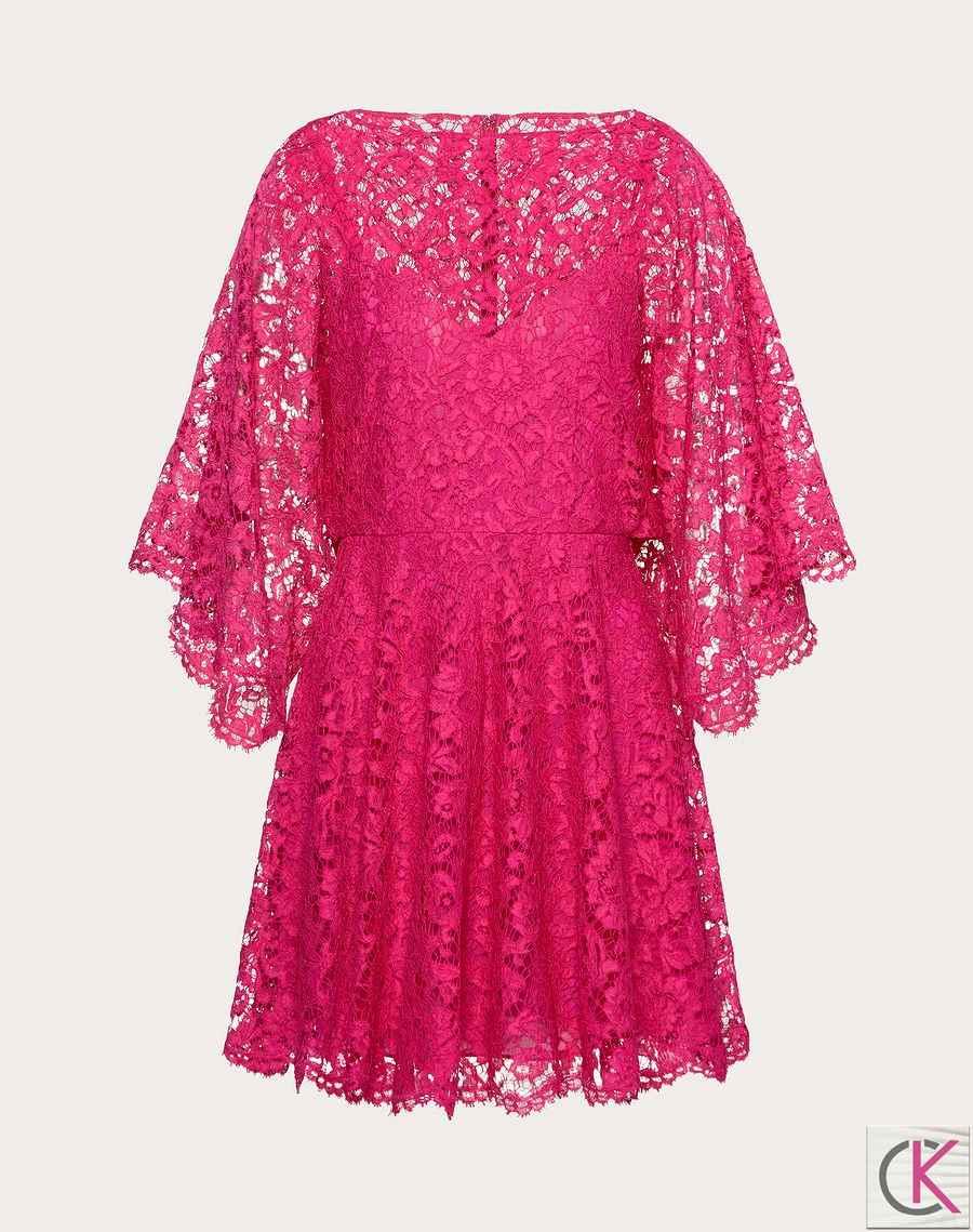 KAFTAN DRESS IN HEAVY LACE