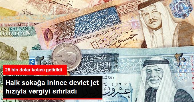 Halk sokağa inince devlet jet hızıyla vergiyi sıfırladı.