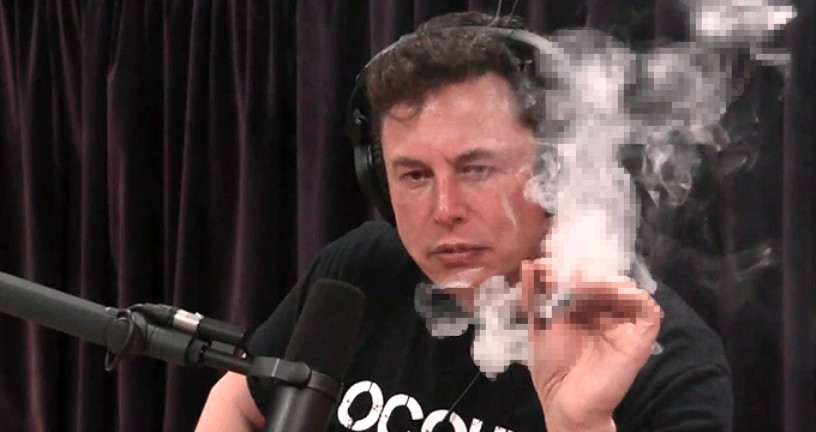 Tesla'nın CEO'su Elon Musk, Canlı Yayında Esrar İçti