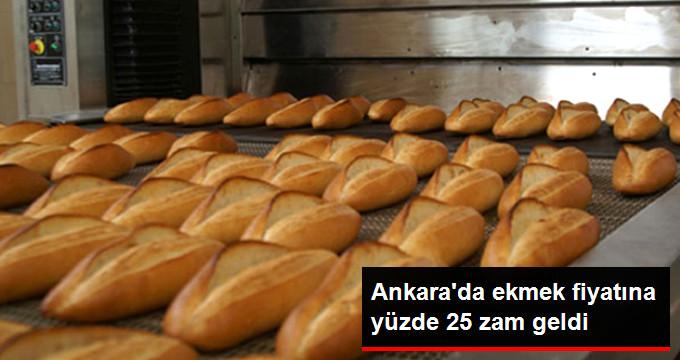 Ankara'da ekmek fiyatına yüzde 25 zam geldi