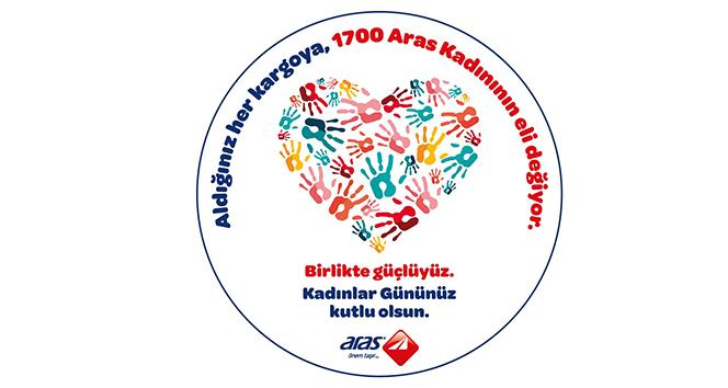 Aras Kargo'dan kadın çalışanlarına 'birlikte güçlüyüz' mesajı